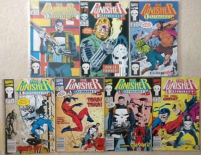 The Punisher #64-70 Eurohit 1 2 3 4 5 6 7 Complete Series Story, Marvel Comics