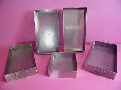 Stainless Steel Sterilize Sterilization/Autoclave container Trays  V Mueller