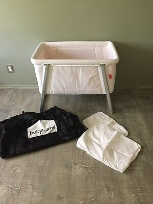 Babyhome Air Bassinet White w 2 extra sets of fitted sheets