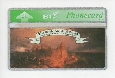 BT Phonecard BTG081, Nottingham Castle, The Battle Standard Raised, mint unused