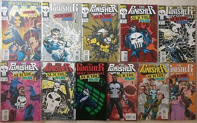 The Punisher: Suicide Run 0, 1-10 Complete, War Zone Journal 85-88, 61-64 23-25