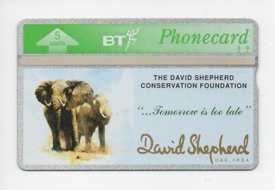 BT Phonecard BTG082, The David Shepherd Conservation Foundation, mint unused