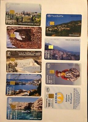 9 Greek Phonecards Used