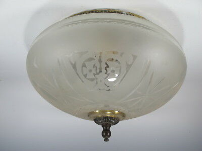 Antique French bronze & glass ceiling light # 5555
