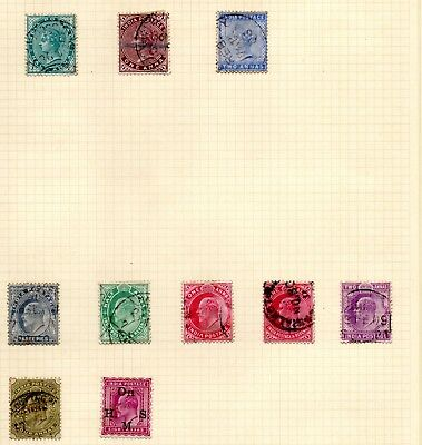 Stamps India, 6 album pages with 106 stamps from Victoria to post independence
