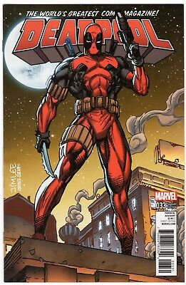 Deadpool 33*NM*1st Print*JIM LEE*Trading Card Variant*Marvel Comics*Sept 2017