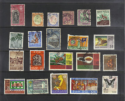 Ceylon / Sri Lanka Old Collection 21 Different Most Fine Used/hinged