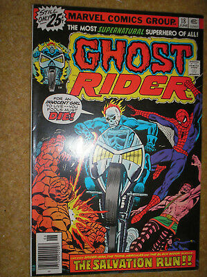 GHOST RIDER # 18 SON OF SATAN DEATH'S HEAD STUNT-MASTER 25c 1976 MARVEL COMIC BK
