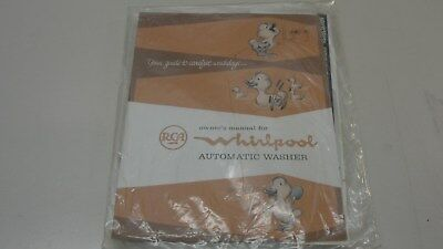 Vintage Rca Whirlpool Automatic Washer Owner's Manual Duck