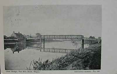 The Ouse Bridge & Ten Mile Bank Hilgay Norfolk 1904 Pc