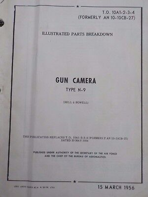 Technical Orders Illustrated Parts Breakdown Gun Camera Type N-9 Aircraft Army