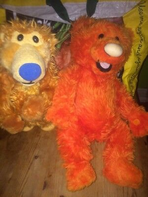 "Disney Store 18"" OJO Bear Big Blue House Plush Orange Jim Henson + Other"