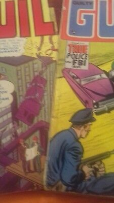 old comics. justice  traps the guilty. nos 5. 25