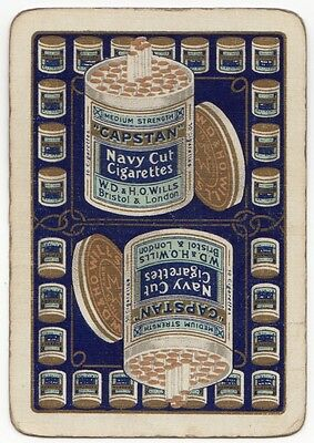 Playing Cards 1 Swap Card - Old Wide CAPSTAN NAVY CUT CIGARETTES Tobacco Smoking