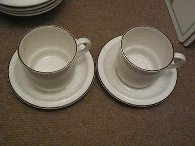 Poole Parkstone Breakfast Cups And Saucers X 2