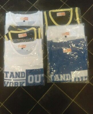6 × Brand new boys vests