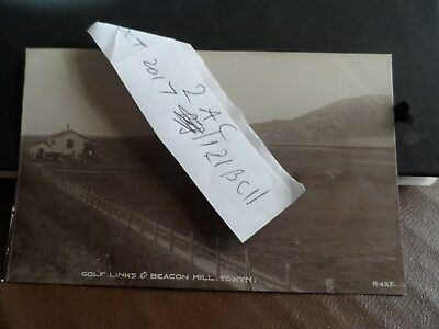 towyn postcard merionethshire by barmouth breacon hills & golfers on golf links