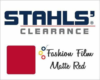 "15"" x 5 Yards - Stahls' Fashion-FILM Heat Transfer Vinyl - HTV - Matte Red"
