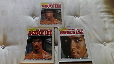 Bruce Lee The Secret Art Of Bruce Lee 3 Books All Different Versions