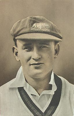 CRICKET - STANLEY McCABE NEW SOUTH WALES AUSTRALIA ALL ROUNDER c1930's PC
