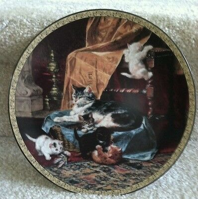"Feline Fancy ""Little Athletes"" Victorian Collector Plate Cat/Kitten 1993 Number"