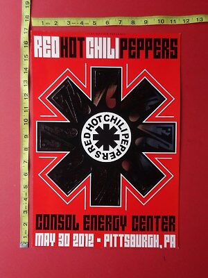 """RED HOT CHILI PEPPERS,12x18"""" FOIL Concert Poster,Very RARE Original,MAY 30,2012"""