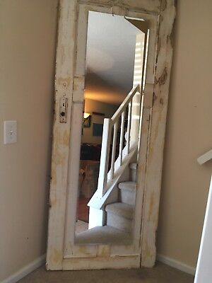 "vintage door w full length mirror 76""x 30"""