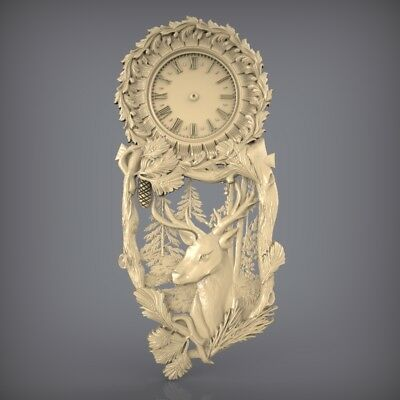 (883) STL Model Clock for CNC Router 3D Printer  Artcam Aspire Bas Relief