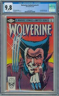 WOLVERINE #1 - CGC 9.8 - WHITE NM/MT - 1982 Limited Series Frank Miller