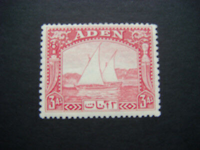 Aden 1937 Dhows 3a carmine SG 6 MNH cat £11.00 see scans