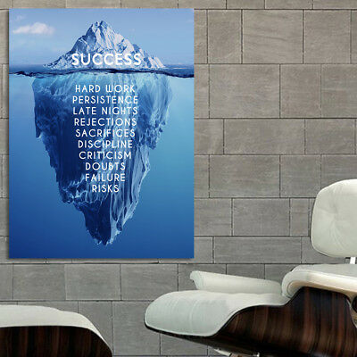 Poster Success Inspiration Motivation Iceberg 20x30 in (50x76 cm) Adhesive Vinyl
