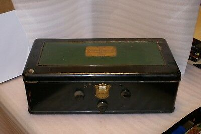 Atwater Kent Model 55 Tabletop Coffin Radio Metal NO TUBES AS IS