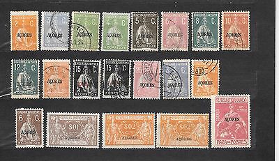ACORES  AZORRE  20 STAMPS NUOVI E USATI  COLONIE PORTOGHESI lot lotto