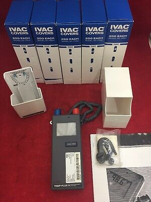 NEW IVAC 2080A Clinical Thermometer System 2 Probes Wall Dispenser 1000 Covers
