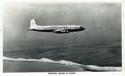 Airwork - Handley Page Hermes - Airline Issue Real Photo Postcard