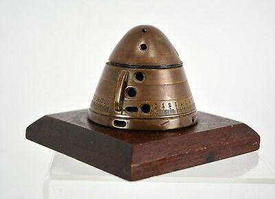 WWII US Army Trench Art: Mounted Japanese 75mm Artillery Shell Fuze Dated 1939