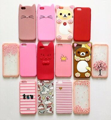 Wholesale Bulk Lot of 15 New Cat Silicone Rubber Cover Cases for iPhone 6/6S