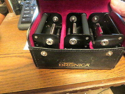 3 Bronica Film Packs in leather case