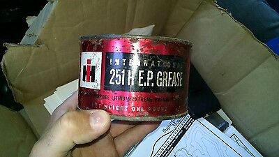 Vintage IH International Harvester 251H E.P. Grease Tin Can 1 Pound