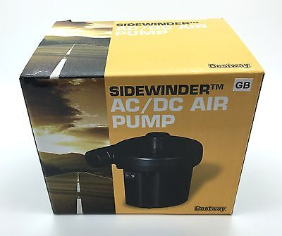 Bestway 12V Sidewinder AC/DC Air Pump for Swimming Pools Inflatables Airbeds