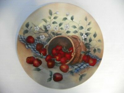David Gao deco plate with basket of apples