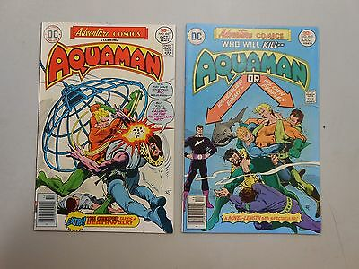 Adventure Comics lot of 2! #'s 447 and 448! (1976, DC) VF8.0 and FN6.0+! LOOK!