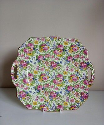"Royal Winton Grimwades ""Summertime"" Chintz Two Handled Cake Plate"