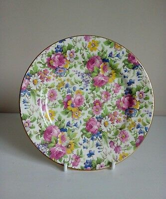 "Royal Winton Grimwades ""Summertime"" Chintz Tea/SidePlate"