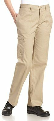 Womens Dickies Cargo Pants FP113KH Twill, Khaki, Relaxed Fit Work Pants
