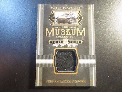 2017 Upper Deck Goodwin Champions WWII German Panzer Uniform Relic