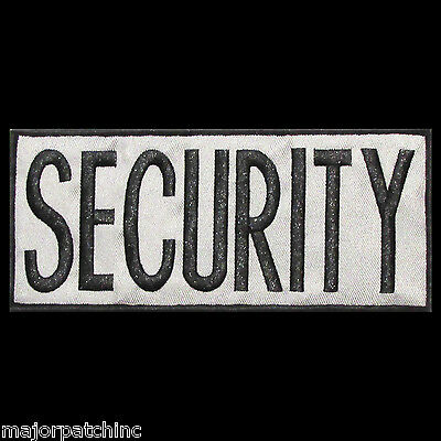 Security Black Grey Uniform Usa Embroidered Tactical Back Panel  Patch 4X11