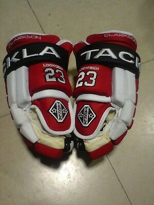 "NEW TACKLA 14"" NHL Gloves Red/White and Black ""David Clarkson New Jersey Devils"""