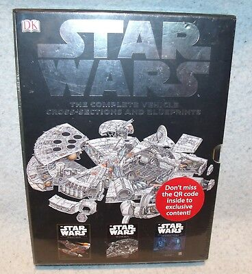New 2012 Star Wars: The Complete Vehicle Cross-Sections and Blueprints Book Set
