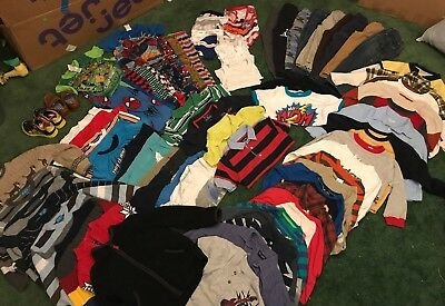 boys 4t winter and fall clothing lot 80+ pieces including shoes size 10